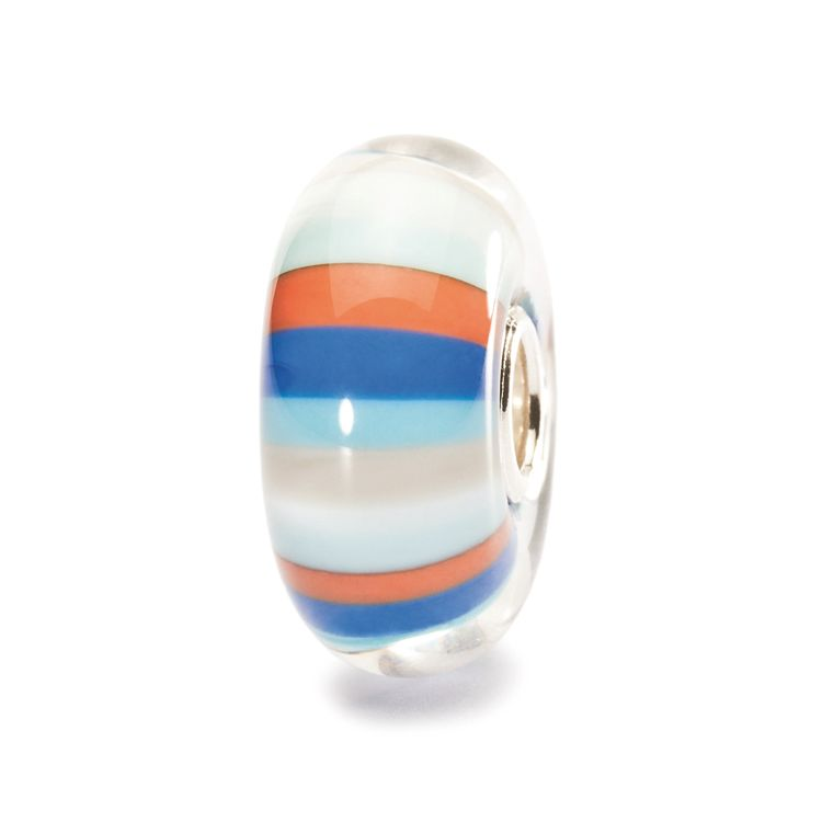 Beach ball glass charm bead