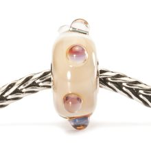 Beige moonstone glass charm bead