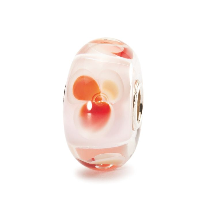 Pink fantasy glass charm bead