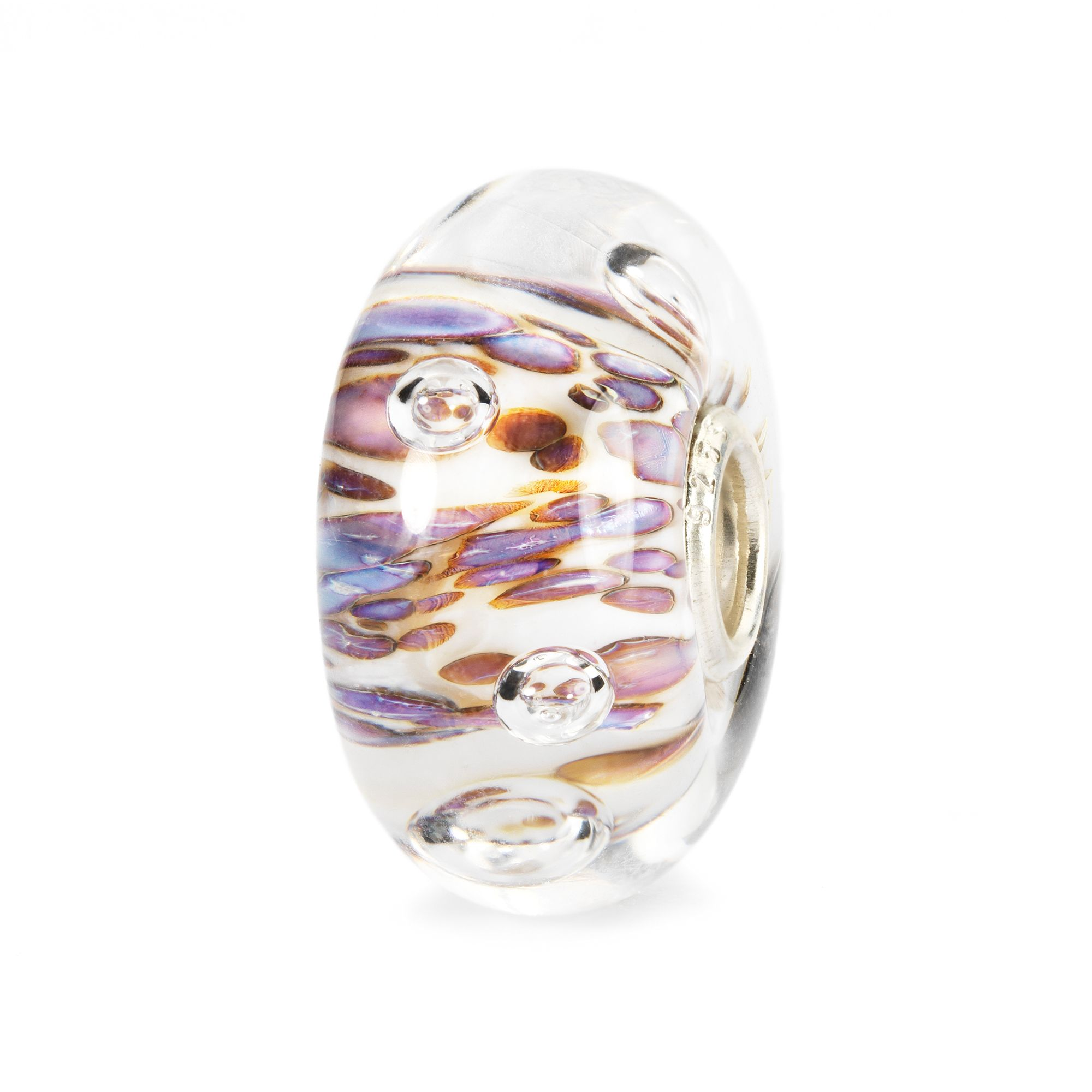 Purple Rippling Bubbles Bead