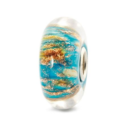 Trollbeads Ancient palace sterling silver murano charm bead
