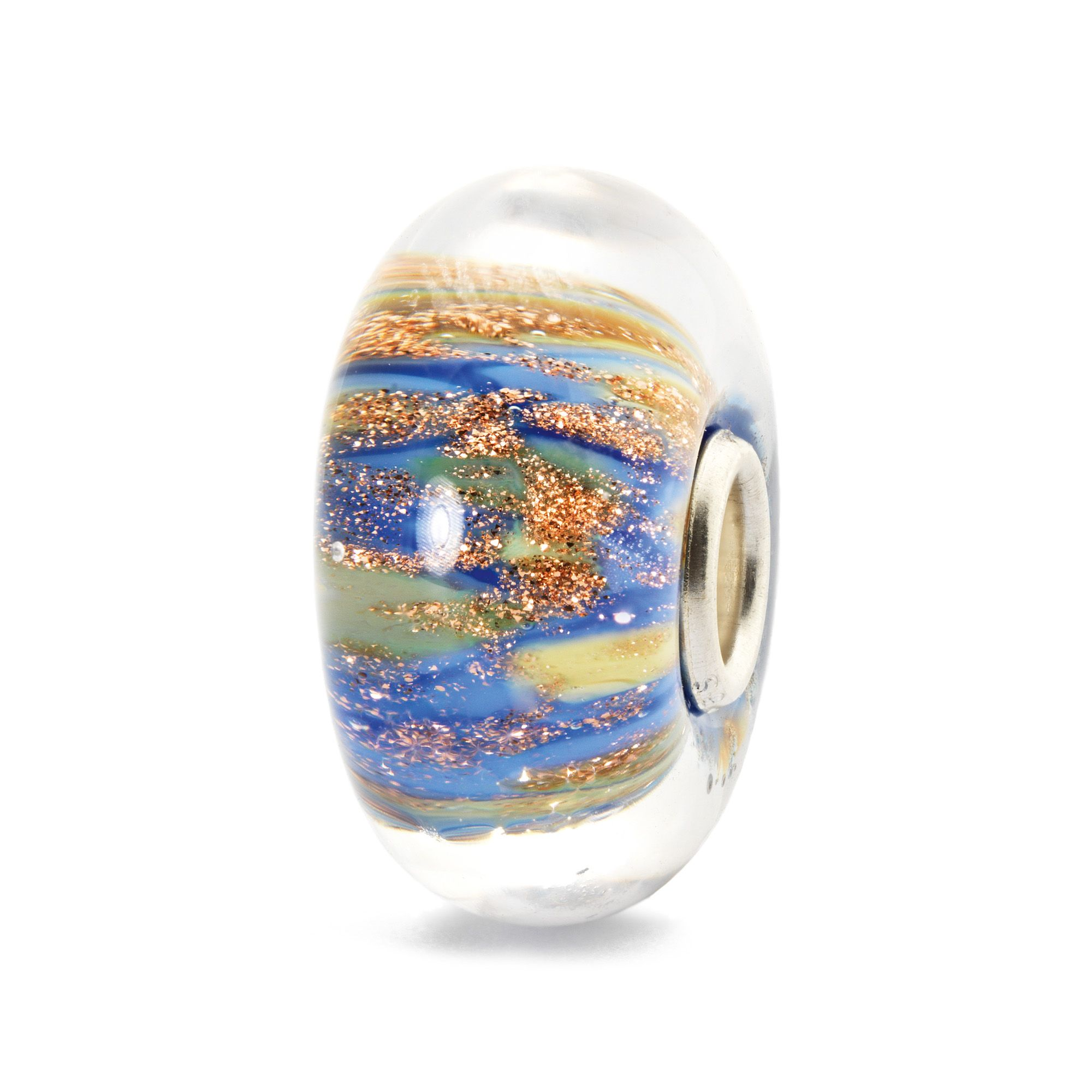 Fountain of life sterling silver murano charm