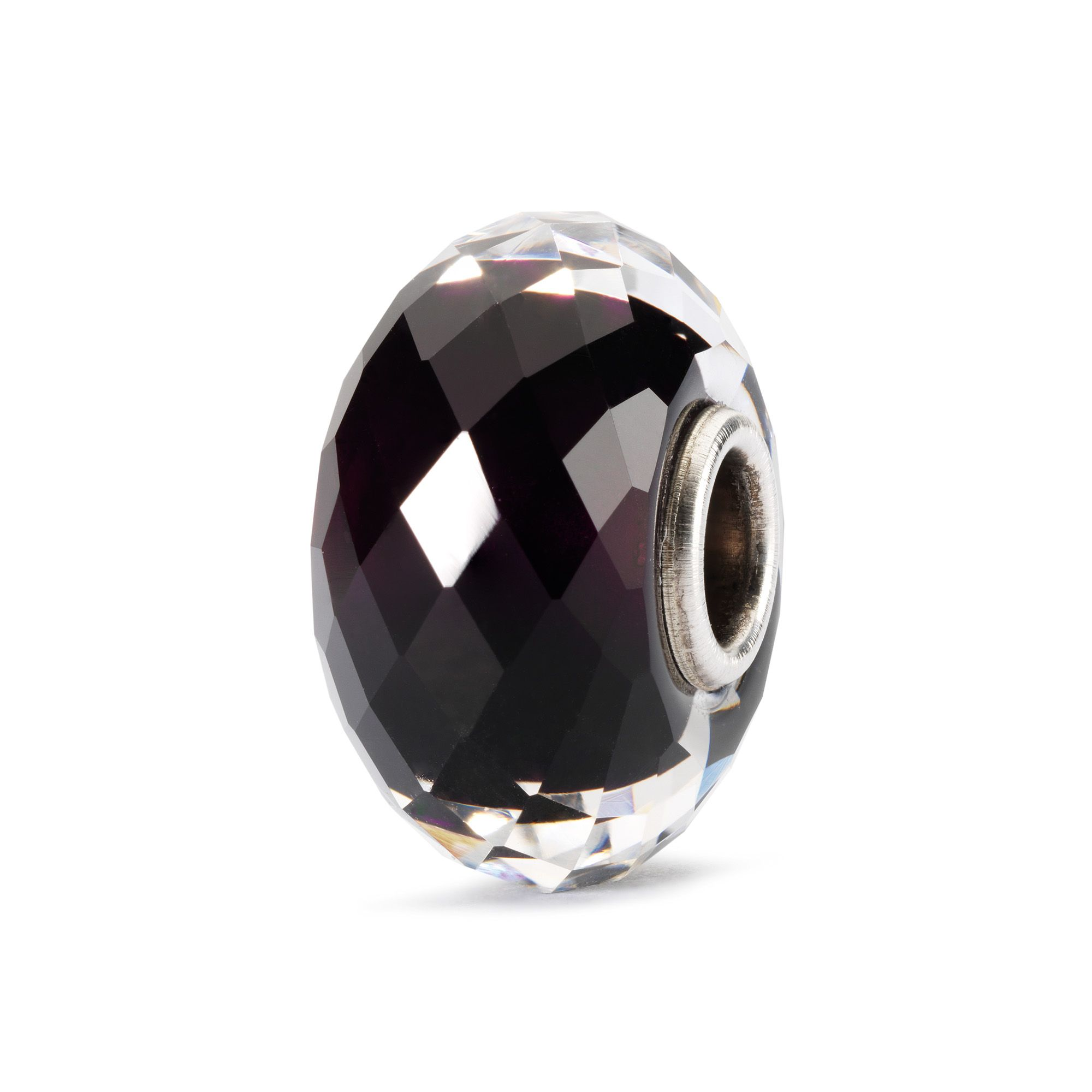 Sahara night facet sterling silver murano charm