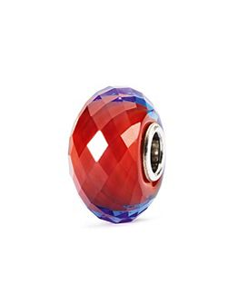 Sahara jewel facet sterling silver murano charm