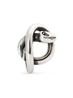 Snake sterling silver charm bead