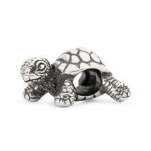Trollbeads African tortoise sterling silver charm bead
