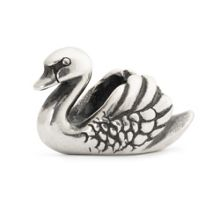 Swan sterling silver charm bead