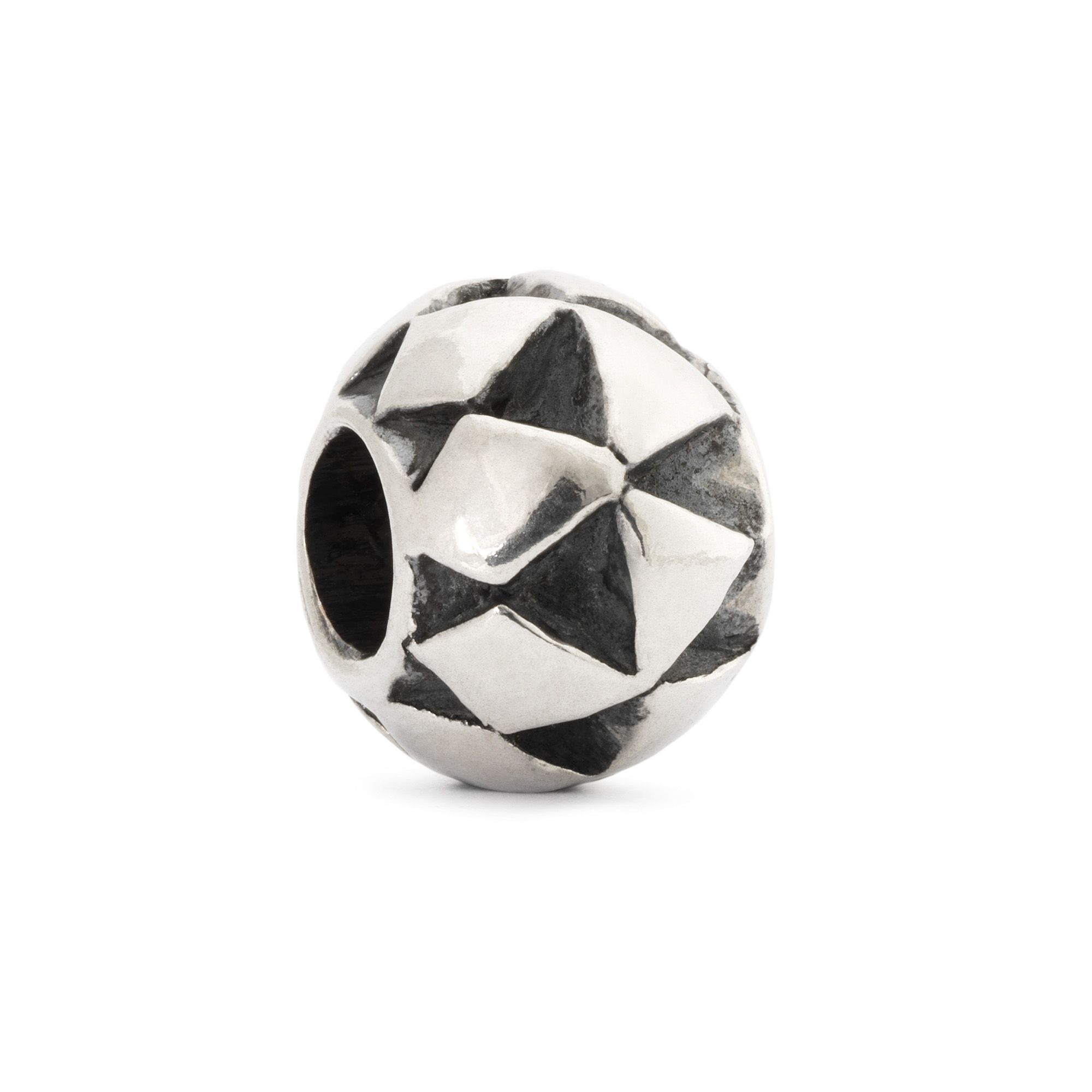 Moroccan cushion sterling silver charm bead