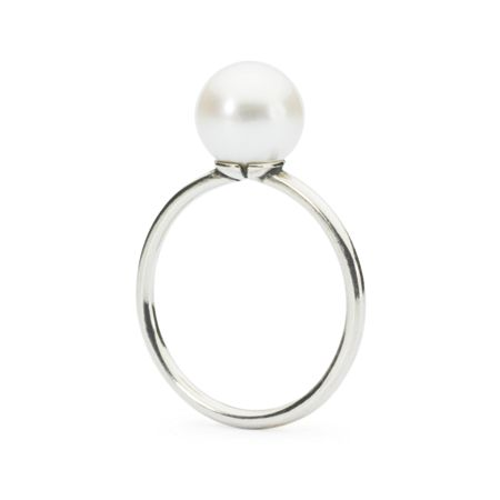 Trollbeads White pearl ring