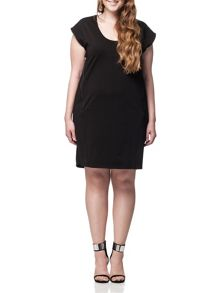 Plus Size Pompoota Lace Insert Tunic Dress
