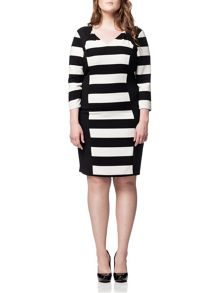 Plus Size Auburn 3/4 Sleeve Dress