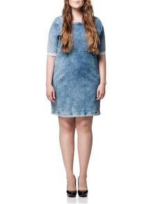 Plus Size Kadina Denim Dress