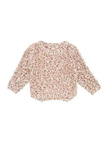 Girls flecked knitted jumper