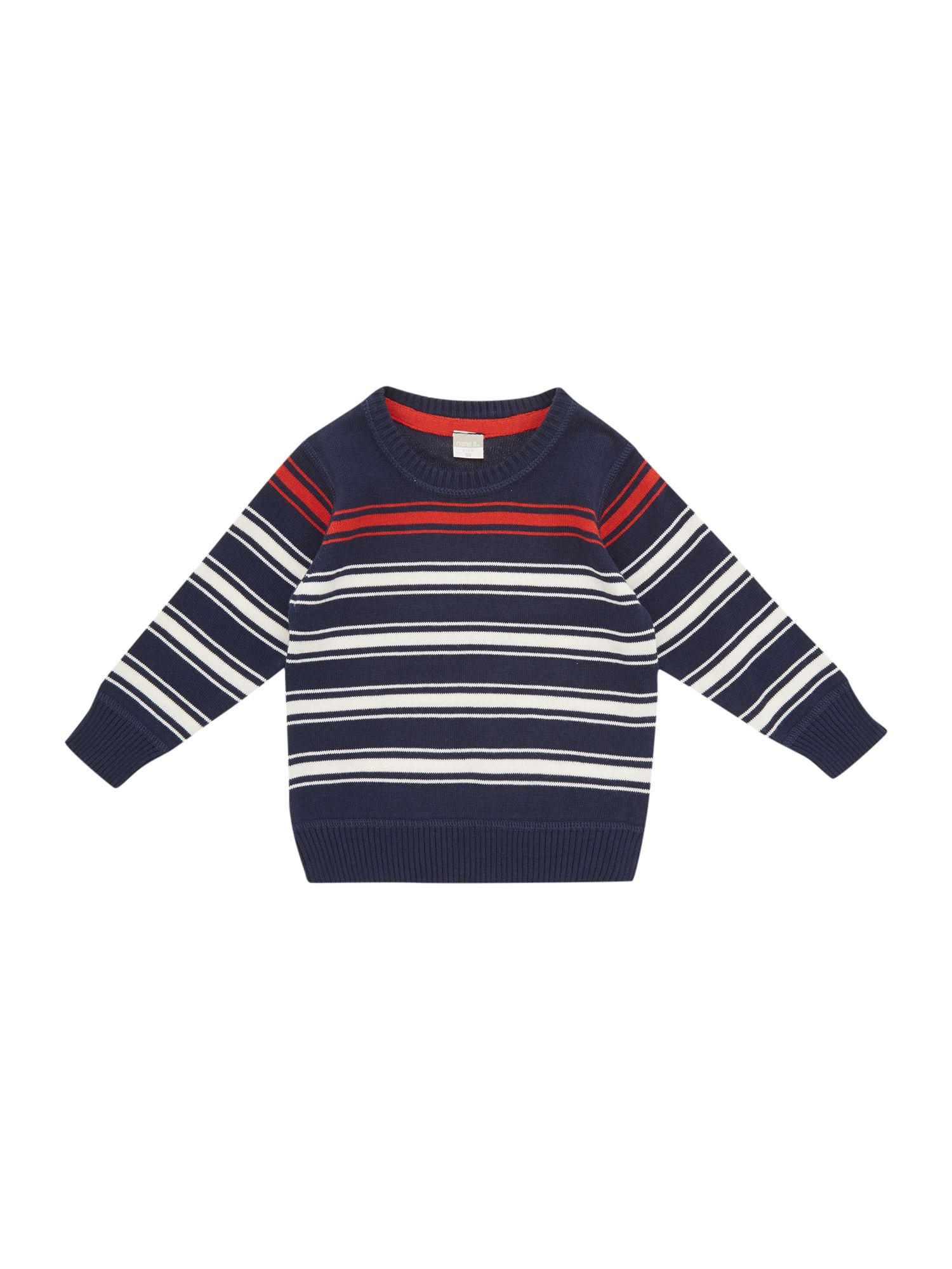 Boys stripe knitted jumper