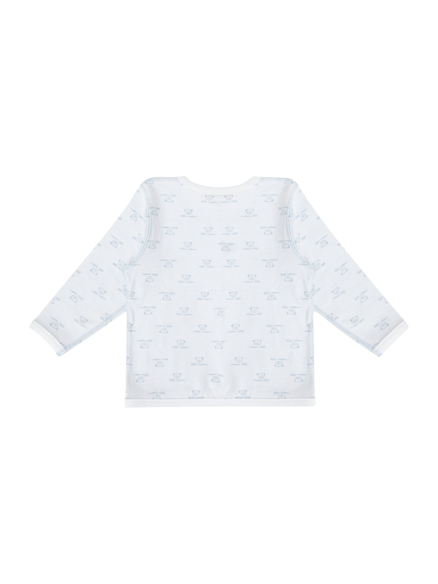 Babys reversible jersey cardigan with teddy print