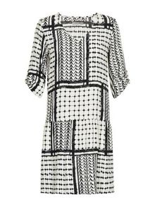 Asymetrical printed dress