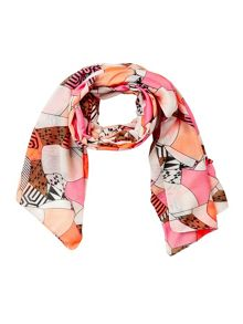 Women multi coloured scarf