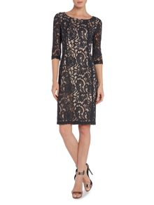 InWear Patrice Lace Dress 3/4 sleeve  k