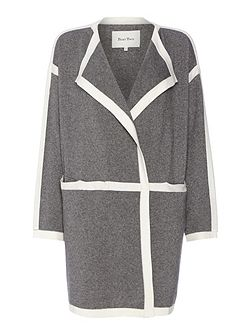 Chic Contrast Trim Coat/Cardigan