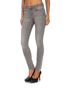 Part Two High Waisted Pale Grey Jeans