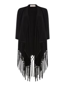 Blazer with fringes