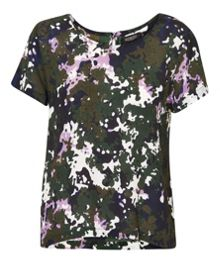 Soaked in Luxury Camouflage Printed Top
