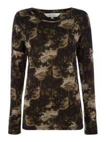 Part Two Long Sleeve Landscape Print Tee
