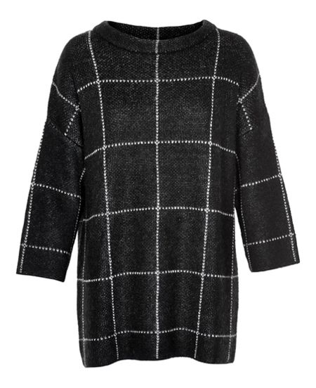 Soaked in Luxury Checked Printed Jumper