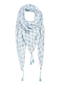 Soaked in Luxury Print Tassel Scarf
