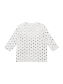NB girls long sleeve all over print