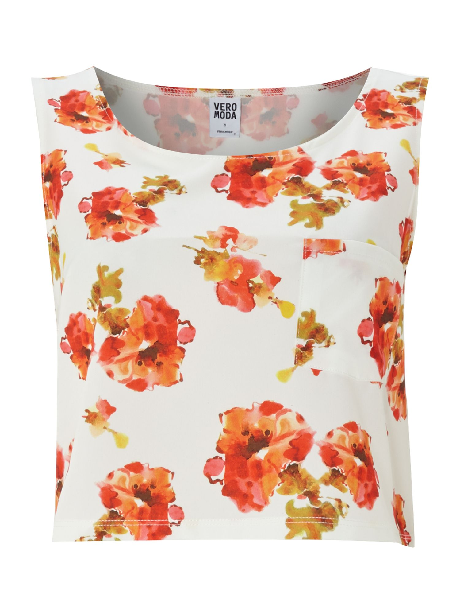 Sl Crop Floral Print Top