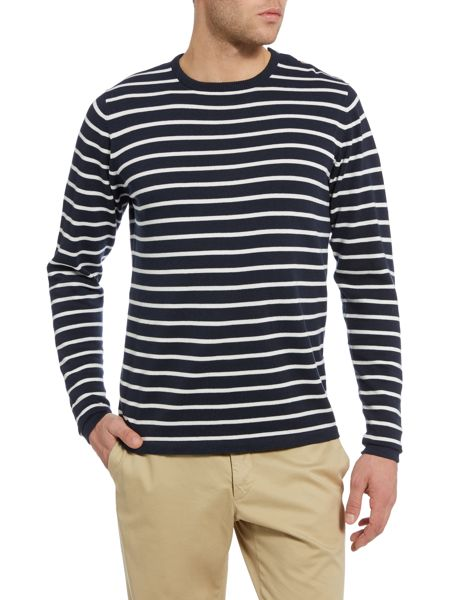 Casual Friday Stripe Crew Neck Pull Over Jumper