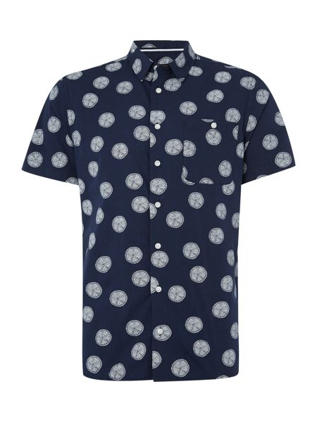 Casual Friday Print Classic Fit Short Sleeve Classic Collar Shi