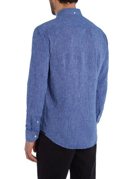 Casual Friday Textured Slim Fit Long Sleeve Classic Collar Shir