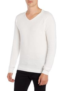 Blend Textured Crew Neck Pull Over Jumper