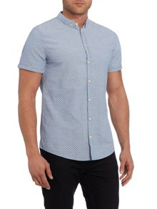 Blend Check Classic Fit Short Sleeve Button Down Shirt
