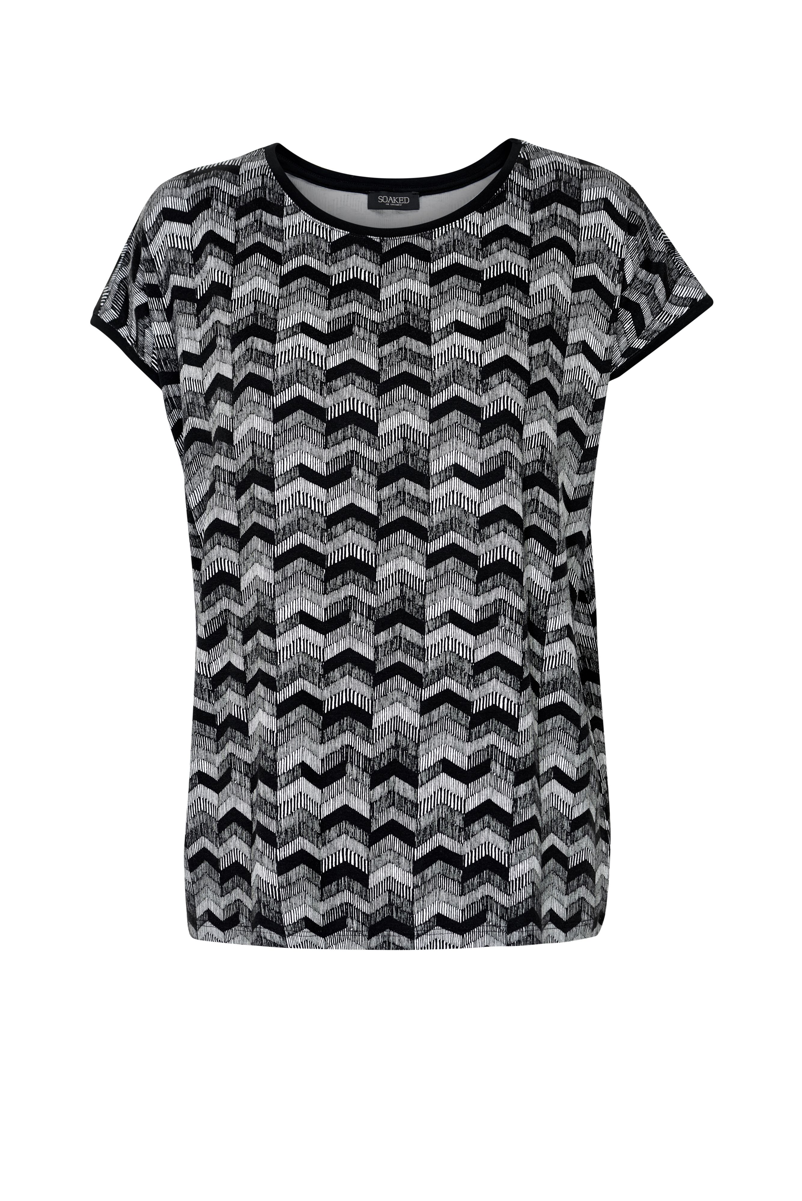 Soaked in Luxury Soaked in Luxury Zigzag Print Top, Multi-Coloured