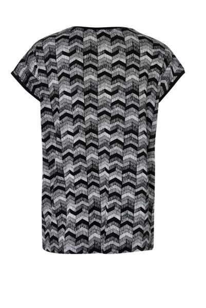 Soaked in Luxury Zigzag Print Top