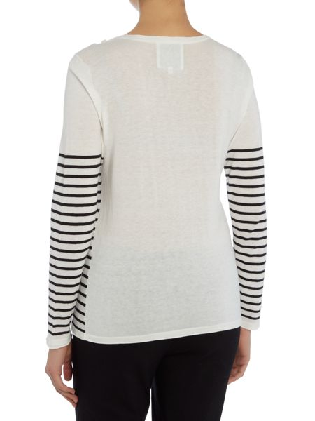 Part Two Pullover in a light cotton featuring stripes