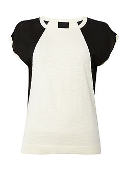 Raven colour block knit top