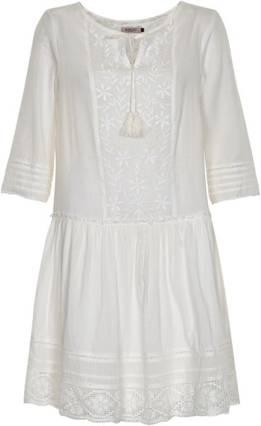Soaked in Luxury Cotton Peasant Style Dress