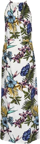 Soaked in Luxury Tropical Print Maxi Dress