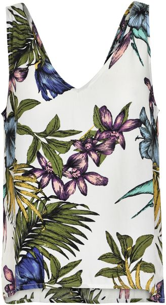 Soaked in Luxury Tropical Print Tank Top
