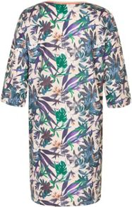 Soaked in Luxury Tropical Print Shift Dress