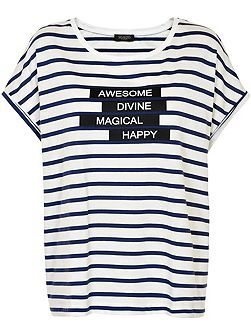 Soaked in Luxury Striped Cotton T-Shirt