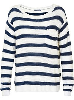 Striped Pocket Jumper