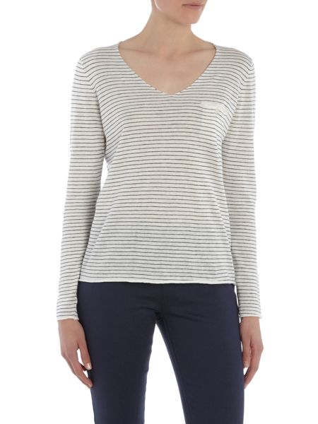 Part Two Relaxed pullover with slightly cropped sleeves