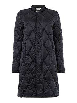 Stylish soft quilted fabric coat