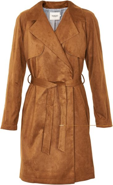 Soaked in Luxury Faux Suede Trench Coat