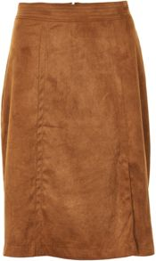 Soaked in Luxury Faux Suede Long Skirt